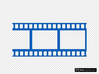 Dark Blue Film Strip