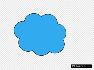 Blue Cloud SVG Clipart