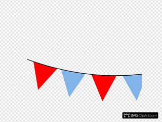 Red And Blue Bunting
