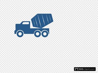Blue Dump Truck