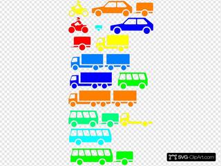 Transportation Silhouettes Boy Colors