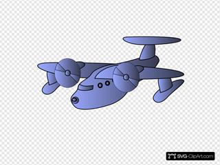 Blue Plane Flying
