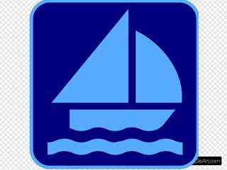 Sailing Logo Blue
