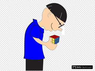 Man Holding Rubric Cube Toy
