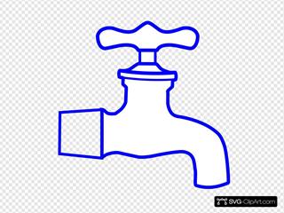 Blue Faucet SVG Clipart