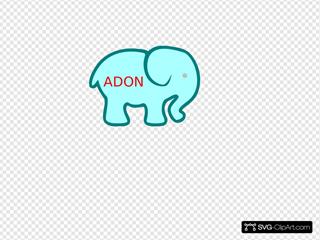 Personalized Birthday Elephant-