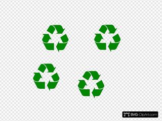 Large Green Recycle Symbol