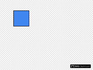 Blue Square 2 SVG Cliparts
