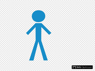 Stick Man Blue