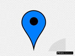 Google Maps Pin Blue