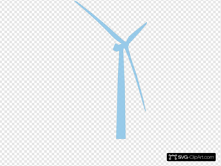 Periwinkle Blue Turbine Icon