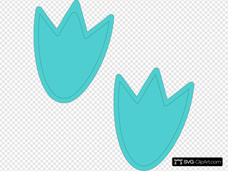 Blue Dino Feet SVG Clipart