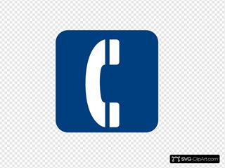 Blue Phone Symbol