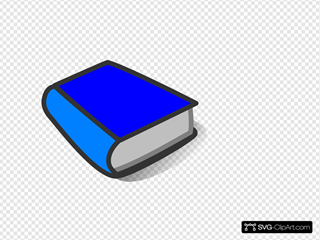 Blue Book Reading SVG Clipart