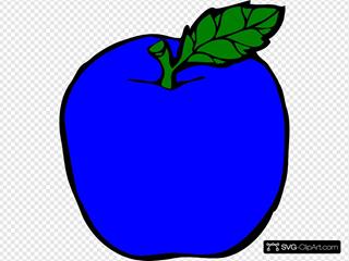 Dark Blue Apple