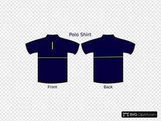 Blue Polo Shirt Front And Back