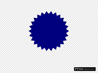 Blue Seal SVG Clipart