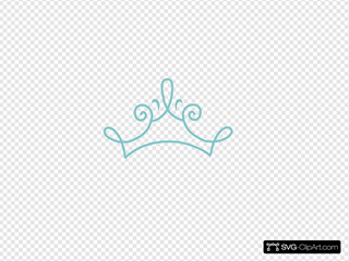 Princess Crown Blue