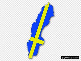 Sweden Flag In Sweden Map