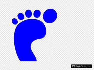 Blue Foot Print