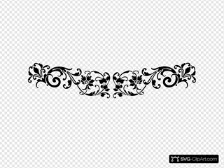 Vintage Scroll Accent Clipart