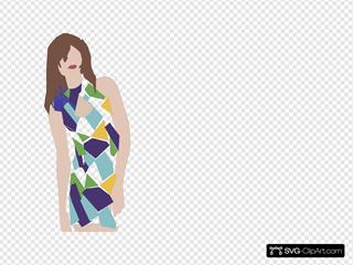 Blue Dress SVG Clipart