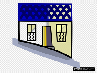 Home On A Hill SVG Clipart