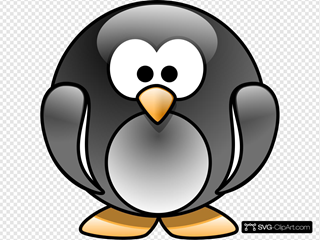 Cartoon Penguin SVG Clipart