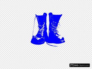 Blue Combat Boots