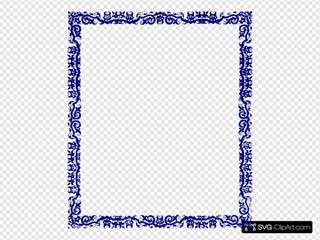 Blue Border Design SVG Clipart