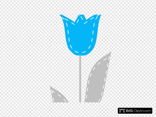 Long Blue And Gray Tulip