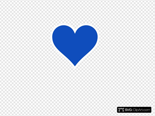 Blue Heart Clip art, Icon and SVG - SVG Clipart