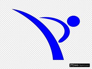 Blue Karate Kicker
