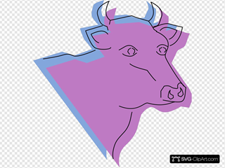Stylized Cow Head