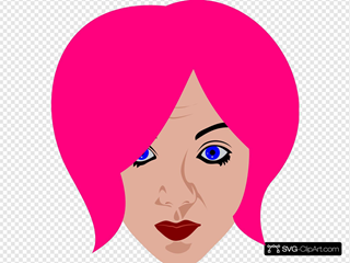 Pink Haired Woman
