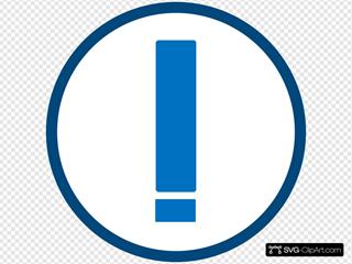 Blue-white Warning Icon