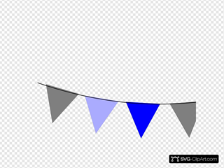 Rainbow Bunting Blue And Gray