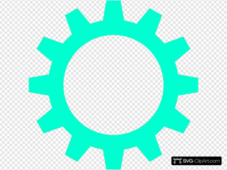 Turquoise Cogwheel