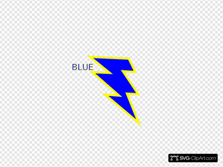 Blue And Gold Lightning Bolt