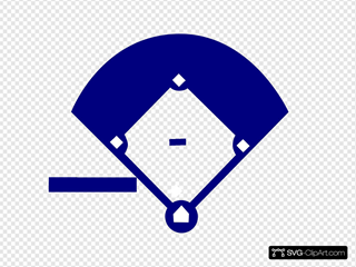 Baseball Field Blue