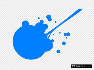 Blue Paint Splatter