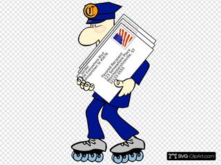 Postman Wearing Skates