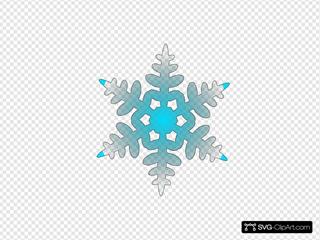 Blue Snow Flake
