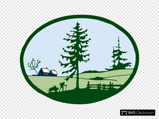Country Scene Clipart