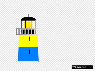 Yellow And Blue Lighthouse