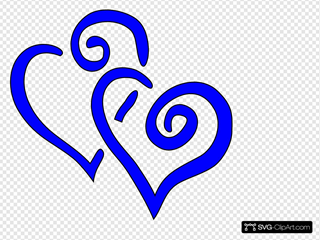 Royal Blue Intertwined Hearts
