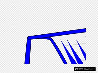 Goal Post Enlarged Blue