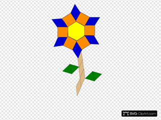 Flower Made By Shapes