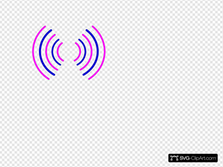 Radio Waves Pink And Blue