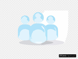 Abstract Glossy Blue Users Icon